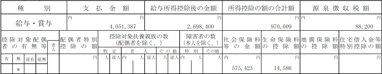 平成26年源泉徴収票(3年目)