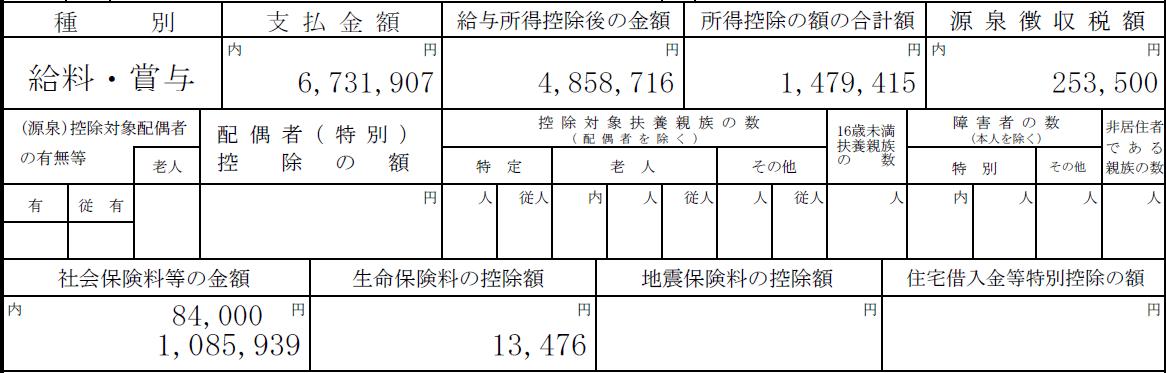 令和元年源泉徴収票(8年目)